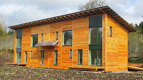 Highlands house designer in a wooden performance
