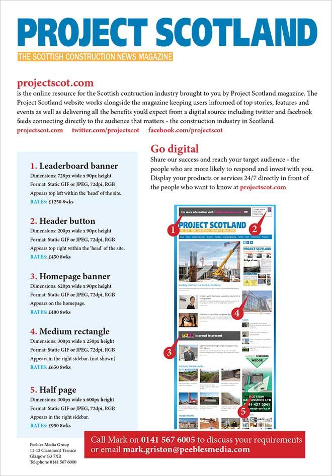 Project Scotland website media