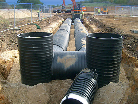 Quick and light drainage solution keeps work flowing