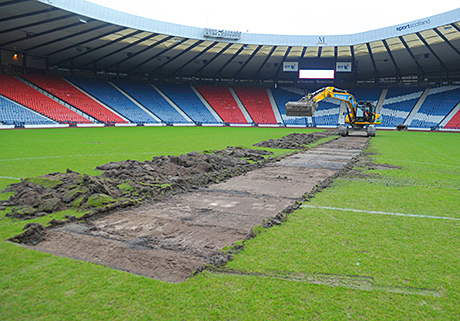 Diggers move in at Hampden as 2014 construction work kicks-off