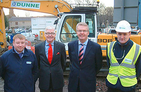 Dunne starts work on new science wing