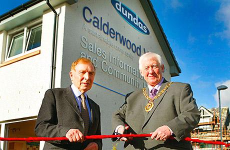 Sir Tom in landmark Hub opening in Coatbridge