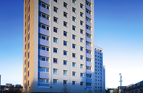 "Aberdeen ""hard-to-heat"" tower blocks benefit from Steni cladding panels"