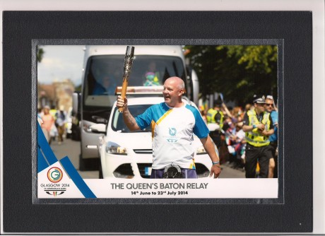 Site manager is 'relay' honoured to be baton bearer