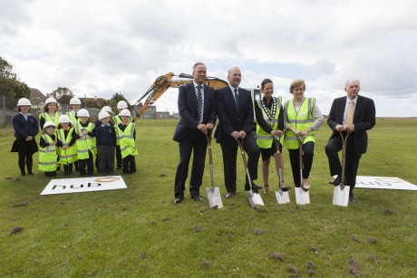 First turf cut at Wick community campus site