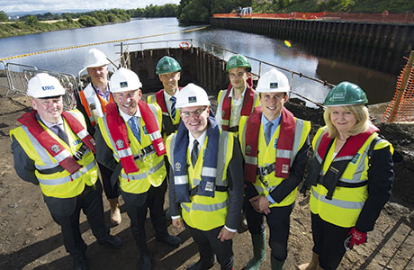 Minister inspects £1.3m dock extension project