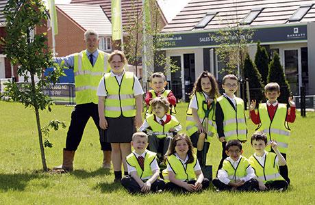 Barratt marks milestone with oak tree planting