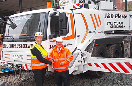 New Grove cranes lift steel firm