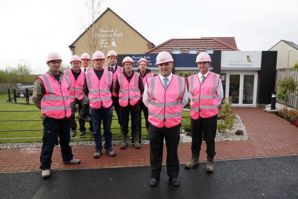 Construction staff wear it pink for breast cancer