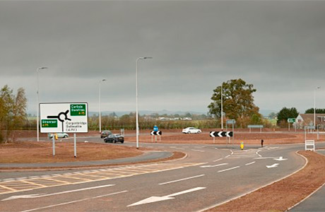 Roundabout upgrade for new hospital completed early