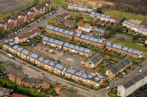Solar Panels ar Knowles Housing Association in Faifley, Clydebank. Completed by Edison Energy in 2013.