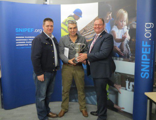 Mature student named best apprentice at plumbing awards