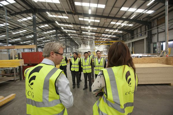 Chinese delegates visit Glasgow firm's pioneering offsite facility