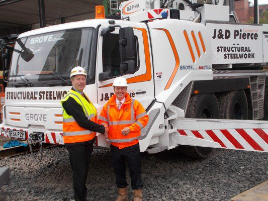 Grove Cranes lift Ayrshire steel firm to new heights