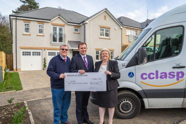 Miller Homes Scotland raises £10k for CCLASP
