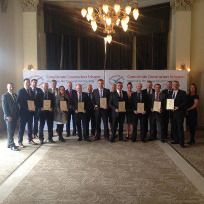 Robertson strikes gold at Considerate Constructors Scheme Awards