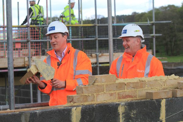 Prime Minister lays brick at Story Homes' development