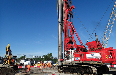 Specialist piling work begins on 'unique' Shieldhall Tunnel project