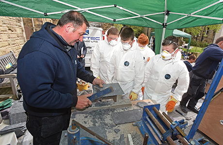 A taste of traditional building skills for Scottish schoolchildren