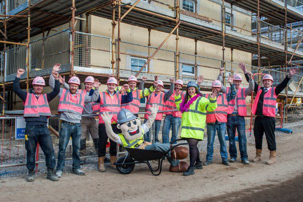 Construction staff in the pink for breast cancer campaign