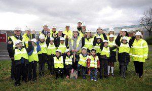 Woodhill & Auchinairn new primary sod cutting