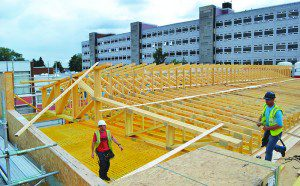 Ochil's trussed rafters are used to form a mono pitch roof at Perth High School