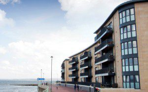 CPR2031 Walker Profiles fabricated and installed Anthracite grey windows and doors in the seafront Harbour Green development in Portobello 1