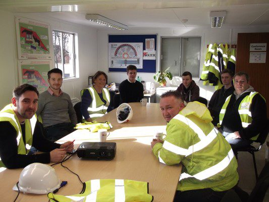 Professionals and pupils get hands-on at Kier