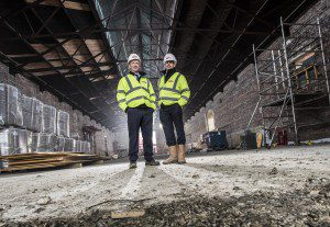 Picture by Christian Cooksey/CookseyPix.com on behalf of Esh Border Construction and Beattie Communications. For further information please contact David Walker on 01698 787848 Pictured at the Engine Shed project in Stirling, Scotland are Simon Phillips,  Regional Managing Director (left)  and John Moore, Construction Director. For full terms  and conditions see www.cookseypix.com