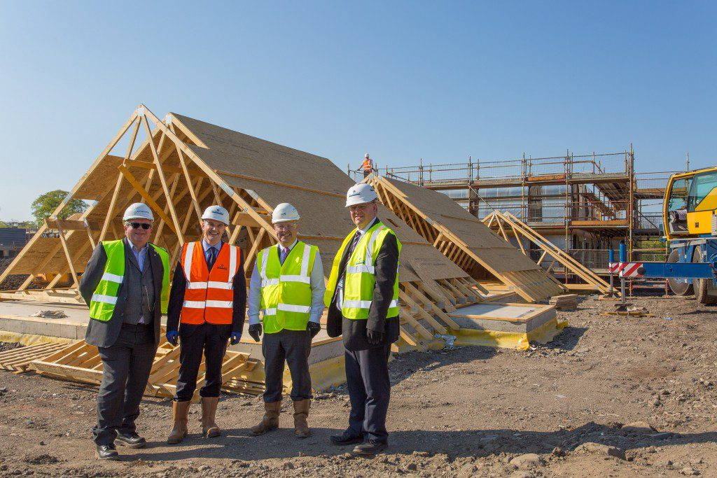 On-site at Methil Brae. Left to Right - Alan Russell, Stewart Shearer, John Mills and Alistair Black