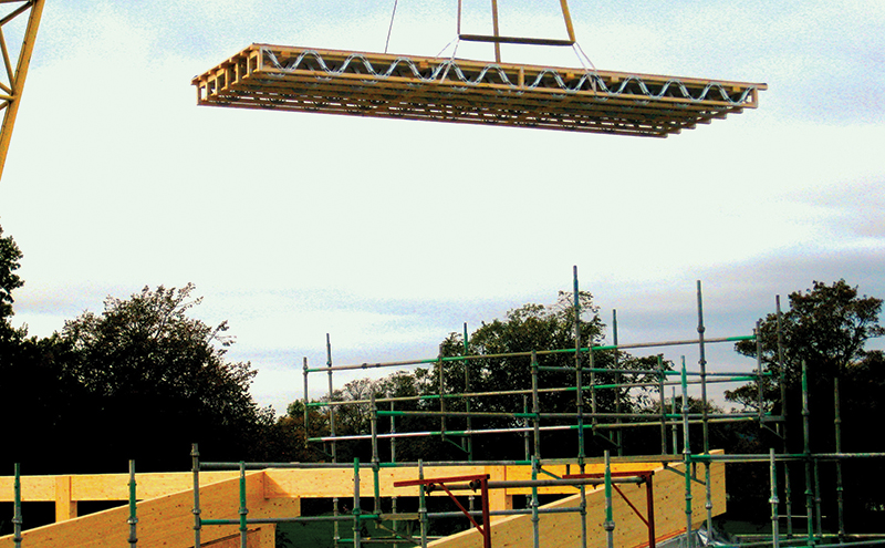 Ochil's SpaceRafter roof cassettes are craned in at Errol Primary