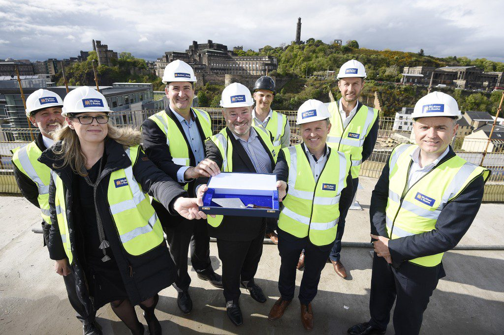 Topping out of the Adagio Aparthotel on Royal Mile