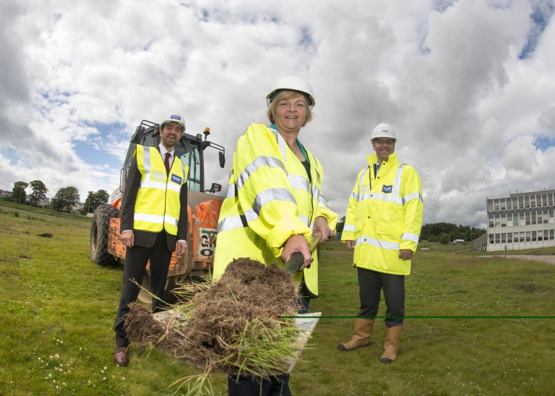 05/07/16 L-r Paul Duthie (project manager of Business Infrastructure Team , scottish enterprise), Councillor jenny laing, Nick Harris  (Director at Henry Boot Developments) Work to create a world class new exhibition and conference centre for Aberdeen and the north east began with a ground-breaking ceremony today (Tuesday, July 5th 2016). Aberdeen City Council and its development partner, Henry Boot Developments Ltd, broke ground on the multi-million pound project - which will also include an innovative energy centre and three hotels on the former site of the Rowett Research Institute at Bucksburn. The project is a joint venture between Aberdeen City Council and development partner Henry Boot Developments and will bring an extra 31,000 business tourists to Scotland.