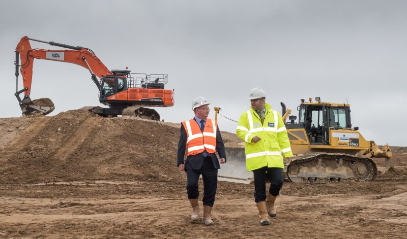 Aberdeen, Tuesday 23rd August 2016 New contractor announced to deliver new Aberdeen Exhibition and Conference Centre. Pictured is (l to r): Derek Shewan, CEO of Robertson and Nick Harris of Henry Boot Developments    Picture by Michal Wachucik / Abermedia