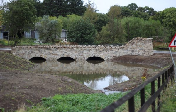 Glenlivet Distillery road-bridge ready for crossing