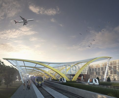 PRT proposal for Glasgow Airport rail link
