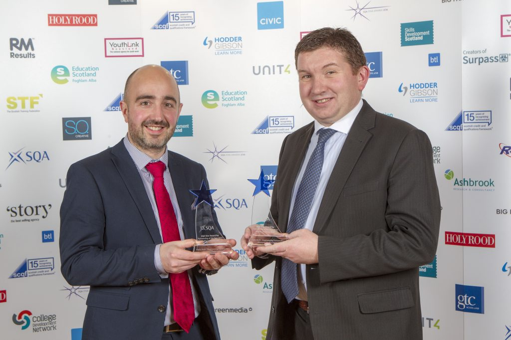 L-R: Graeme Whiteford (BAE Systems) and Alistair Rodger (Glasgow Clyde College)