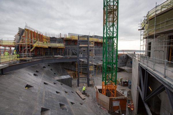 Construction of V&A Museum of Design Dundee gathers pace