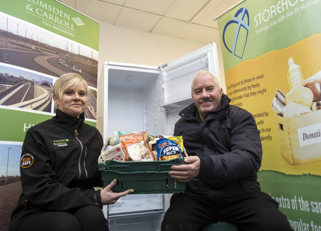 Marie Campbell and Mike Munro of Storehouse Food Bank in Bo'ness who received funding from the last round of Esh Communities scheme.
