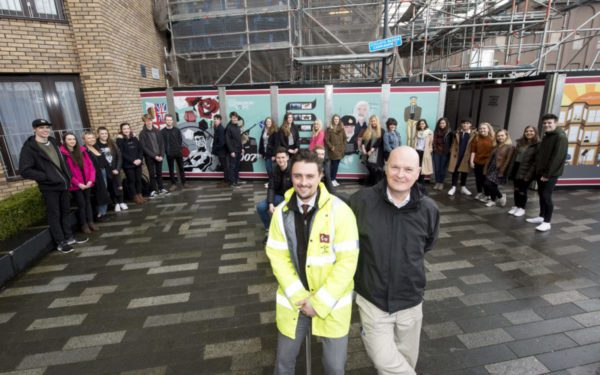 Creative project shines a light on Edinburgh construction site