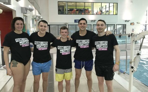 Graduates dive in at the deep end for charity