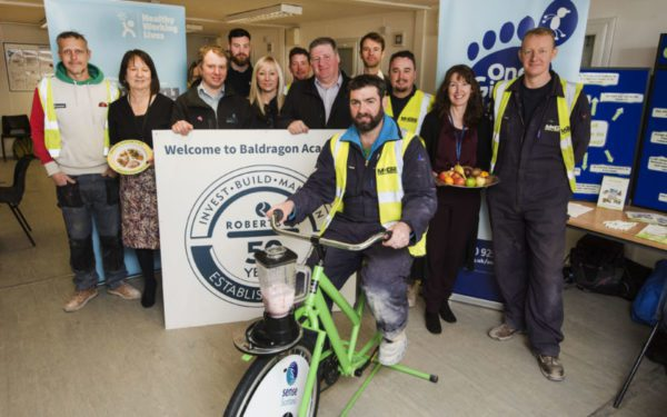 Dundee workers get on their bikes to promote healthy lives