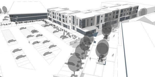 Plans submitted for Alexandria town centre development