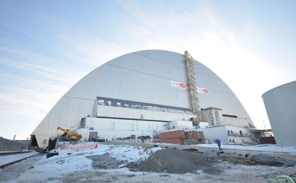 Steel-clad building in Chernobyl safety role