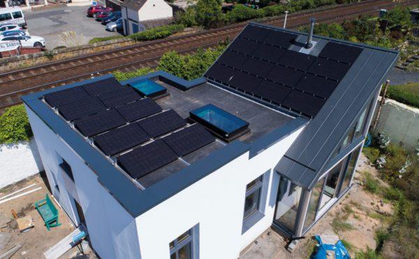 Eco-friendly roof for Fife coastal home