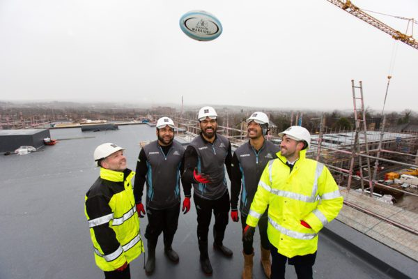 Rugby stars have a ball at new Glasgow development
