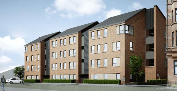 Bespoke timber frame system used on Glasgow homes